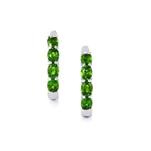 Chrome Diopside Earrings in Sterling Silver 1.41cts