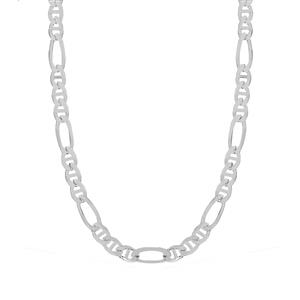 "22"" Sterling Silver Couture Figaro-Rambo Chain 22.80g"