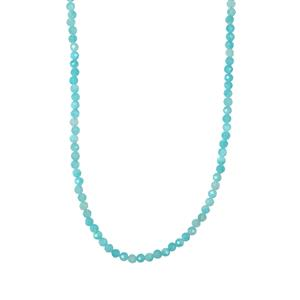 Amazonite Graduated Bead Necklace in Sterling Silver 26.18cts