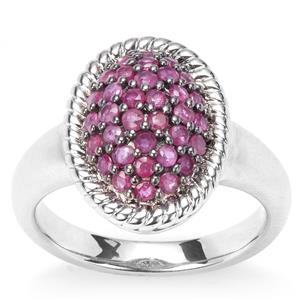 Siam Ruby Ring in Sterling Silver 1.21cts