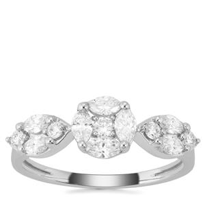 Diamond Ring in 18K White Gold 0.76ct