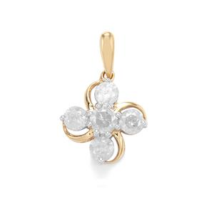 Diamond Pendant in 10K Gold 1.05ct