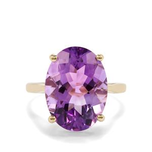 7.86ct Moroccan Amethyst 9K Gold Ring