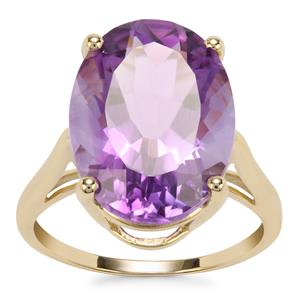 Moroccan Amethyst Ring in 10k Gold 7.86cts