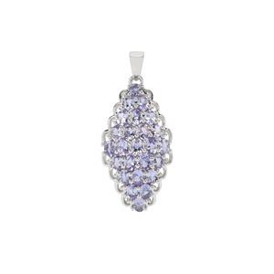 Tanzanite Pendant in Sterling Silver 3.84cts