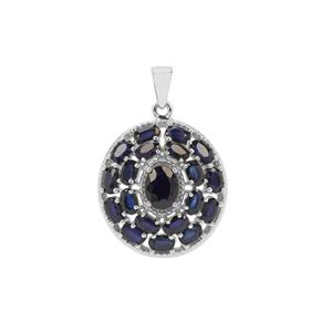 Madagascan Blue Sapphire Pendant in Sterling Silver 7.58cts