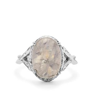 Rainbow Moonstone Ring in Sterling Silver 6.60cts