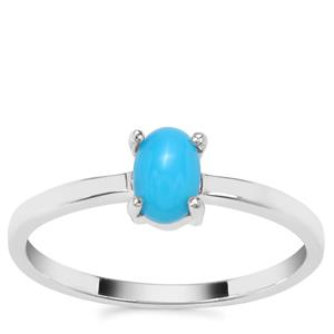 Sleeping Beauty Turquoise Ring in Sterling Silver 0.50ct