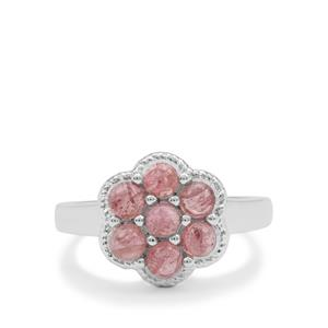 Pink Tourmaline Ring in Sterling Silver 1.40cts
