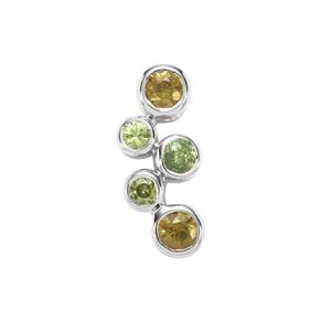 Ambanja Demantoid Garnet Pendant in Sterling Silver 0.87ct