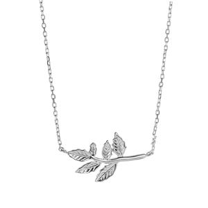 Sterling Silver Leaf Slider Necklace 3.65g