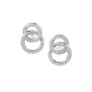 Diamond Earrings in Sterling Silver 0.06ct