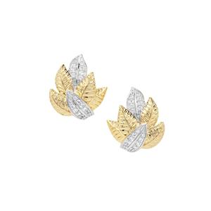 0.25ct White Zircon Midas Earrings