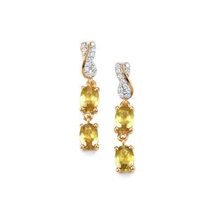 Ambilobe Sphene & Diamond 18K Gold Tomas Rae Earrings MTGW 2.31cts