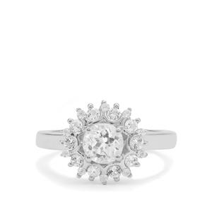 1.65ct White Topaz Sterling Silver Ring