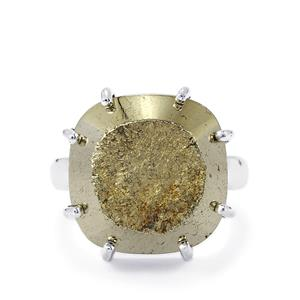 Drusy Pyrite Ring in Sterling Silver 26cts
