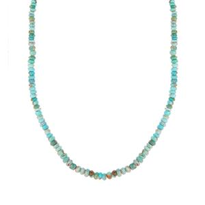 Cochise Turquoise Necklace in Sterling Silver 41.70cts