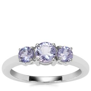 Tanzanite Ring in Sterling Silver 1.08cts