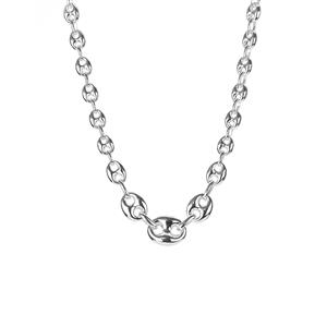 "17.75"" Sterling Silver Altro Graduated Mariner Necklace 19.77g"