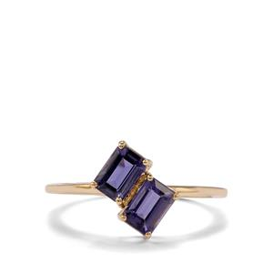 0.87ct Bengal Iolite 9K Gold Ring