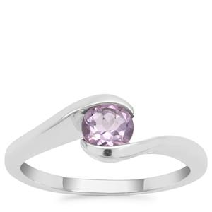 Rose De France Amethyst Ring in Sterling Silver 0.55ct