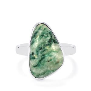 Siberian Mariposite Ring in Sterling Silver 9cts