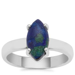 Azure Malachite Ring in Sterling Silver 2.13cts