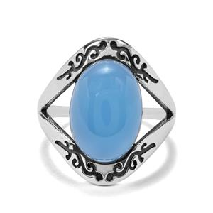 5.86ct Blue Chalcedony Sterling Silver Ring