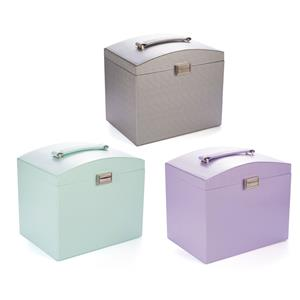Large Contemporary Jewellery Box with Matching Travel Case in a Range of Colours