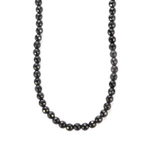 113.50ct Black Onyx Sterling Silver Slider Necklace