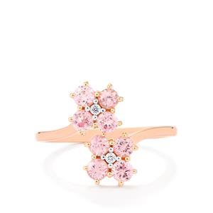 Mozambique Pink Spinel Ring with Diamond in 14K Rose Gold 1.10cts