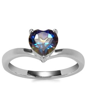 Mystic Blue Topaz Ring in Sterling Silver 1.44cts