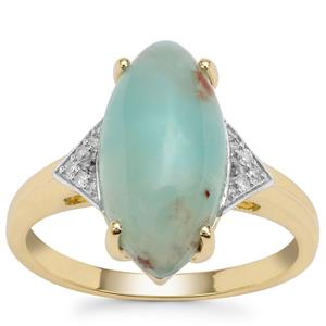 Aquaprase™ Ring with Diamond in 9K Gold 3.83cts