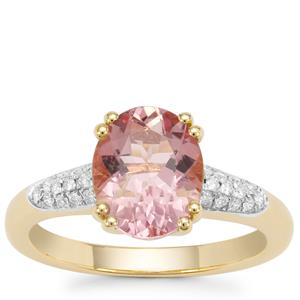 Cherry Blossom™ Morganite Ring with Diamond in 18K Gold 2.27cts