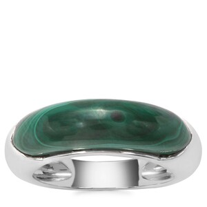 Malachite Ring in Sterling Silver 7.39cts