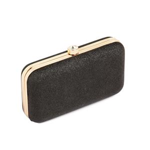 Destello Black Mini Jewel Clutch