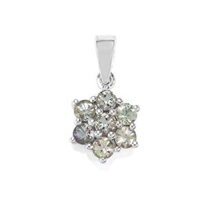 1.34ct Bi Colour Tanzanite Sterling Silver Pendant
