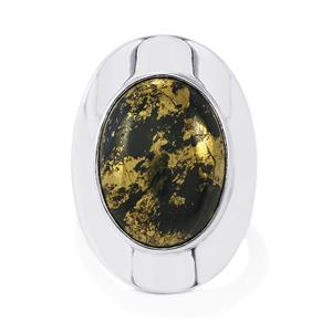 Apache Gold Pyrite Ring in Sterling Silver 17cts