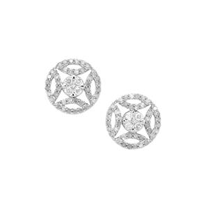 Diamond Earrings  in 10k White Gold 1.01cts