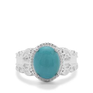 Sleeping Beauty Turquoise Ring in Sterling Silver 2.75cts
