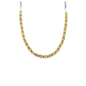 Bolivian Natural Champagne Quartz Necklace in Sterling Silver 17.70cts