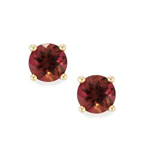 Pink Tourmaline Earrings in 10K Gold 0.71ct