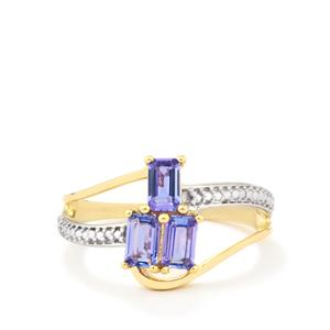 0.79ct AA Tanzanite 9K Gold Ring