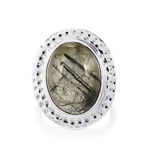 15ct São Paulo Tourmalinated Quartz Sterling Silver Aryonna Ring