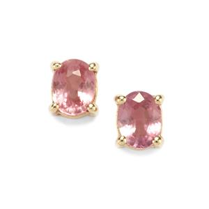 Sakaraha Pink Sapphire Earrings in 9K Gold 0.45ct