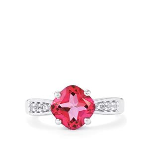 2.58ct Mystic Pink & White Topaz Sterling Silver Ring