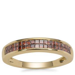 Red Diamond Ring in 9K Gold 0.50ct