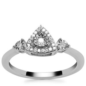 Diamond Ring in Sterling Silver 0.10ct