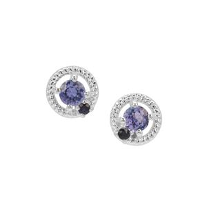 Tanzanite Earrings with Blue Sapphire in Sterling Silver 0.50ct