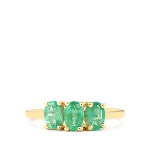 1.03ct Zambian Emerald 9K Gold Ring